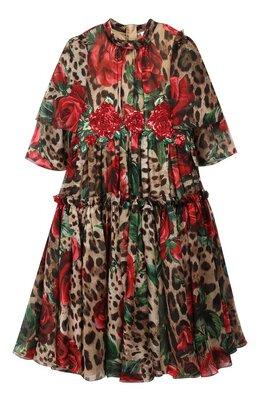 Шелковое платье Dolce & Gabbana L51DG1/HS1Z0/2-6