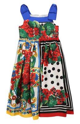 Шелковый сарафан Dolce & Gabbana L51DH4/LA305/8-14