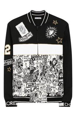 Хлопковый кардиган Dolce&Gabbana L4JW5T/G7SEX/8-14