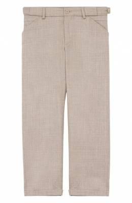 Шерстяные брюки прямого кроя с отворотами Loro Piana FAG3705