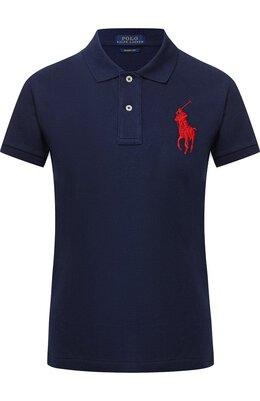 Хлопковое поло с логотипом бренда Polo Ralph Lauren 211505656/002