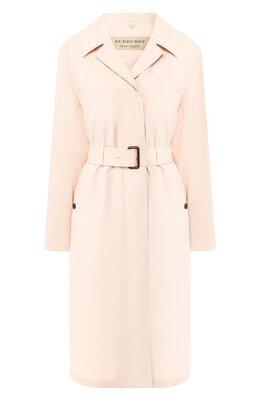 Пальто Car Coat из смеси хлопка и шелка Burberry 8007010