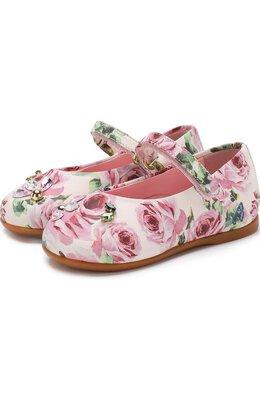 Туфли с принтом и кристаллами Dolce&Gabbana D20056/AN987