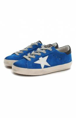 Замшевые кеды Superstar Golden Goose Deluxe Brand G34KS301.A86