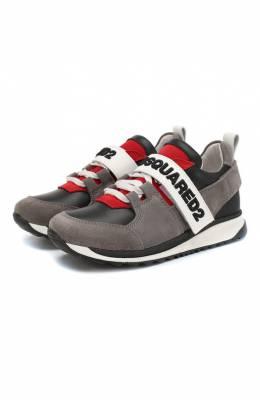 Кожаные кроссовки Dsquared2 59825/28-35