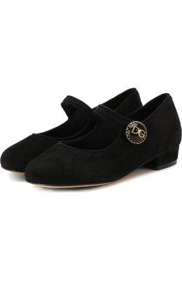 Замшевые туфли с пряжкой Dolce&Gabbana D10559/A1275/24-28