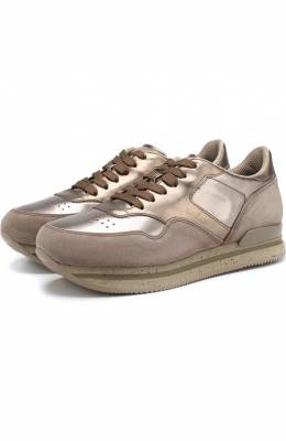 Комбинированные кроссовки на шнуровке Hogan HXW2220M46875P