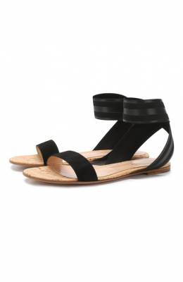Комбинированные сандалии Gianvito Rossi G31417.05CU0.CEUBLBS