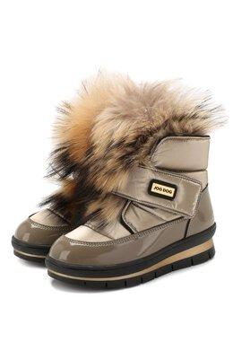 Утепленные ботинки Jog Dog 13025R/ZAFFIR0 FLASH/29-35