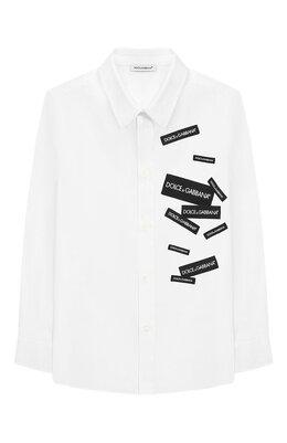 Хлопковая рубашка Dolce&Gabbana L42S77/G7RZM/2-6