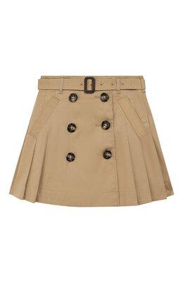 Хлопковая юбка Burberry 8013412