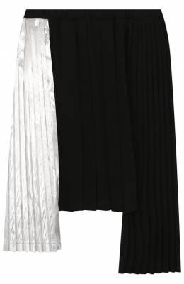 Юбка асимметричного кроя с плиссированными вставками No. 21 27 X/K307/6467/34-44