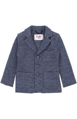 Однобортный пиджак из хлопка Il Gufo A17BF011M0088/2A-4A