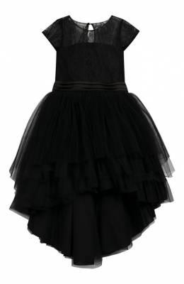Платье асимметричного кроя с поясом Aletta AP99064/4A-8A