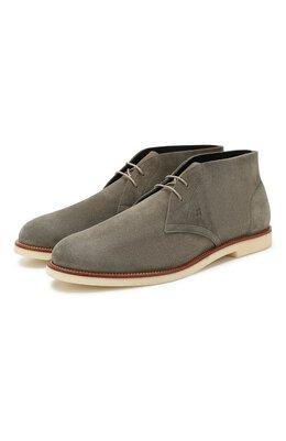 Замшевые ботинки Hogan HXM4560CR30I9S