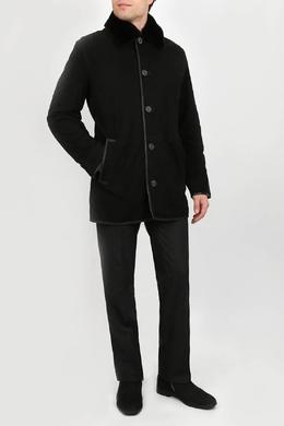 Черная дубленка с карманами Torras 2306178355