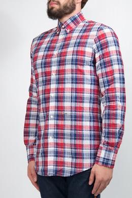 Красно-синяя рубашка в клетку Dsquared2 1706179178