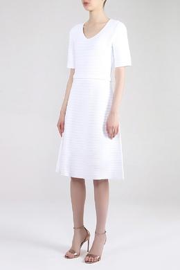 Белое трикотажное платье Salvatore Ferragamo 510180188