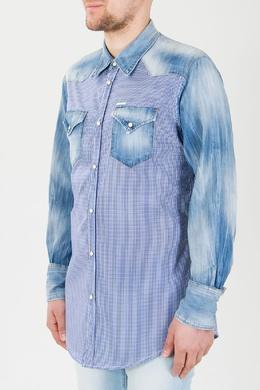 Рубашка с джинсовыми рукавами Dsquared2 1706178584