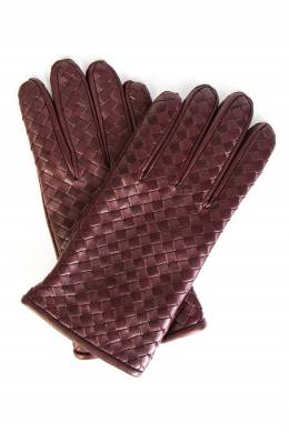 Бордовые перчатки с плетением Bottega Veneta 1669180754