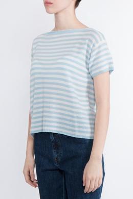 Полосатая футболка с короткими рукавами Prada 40180829