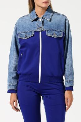 Синяя куртка с вставками Sjyp 1393181148