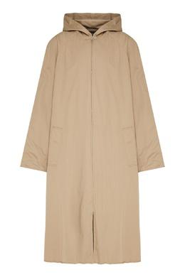 Бежевый плащ с капюшоном Hooded Balenciaga 397180858