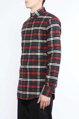 Рубашка из ткани с узором в клетку Dsquared2 1706180281