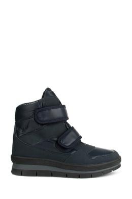 Синие ботинки из текстиля и замши Jog Dog 1211180286