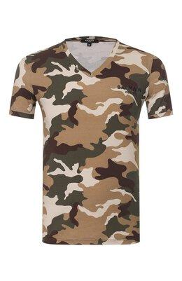 Хлопковая футболка Balmain BRM805050