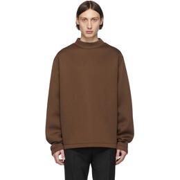 Maison Margiela Brown Scuba Sweatshirt S30GU0119 S23486