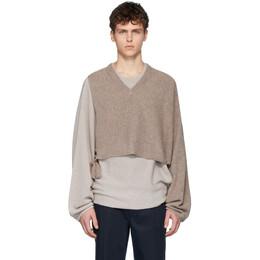 Maison Margiela Beige Twinset Sweater S50FZ0026 S16976