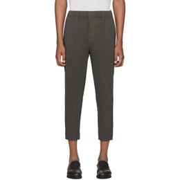 Homme Plisse Issey Miyake Grey Wool-Like Light Trousers HP06FF005
