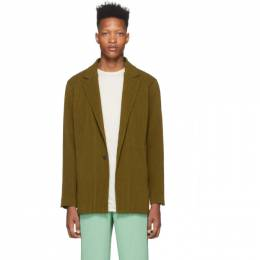 Homme Plisse Issey Miyake Yellow Wool-Like Blazer HP06FD003