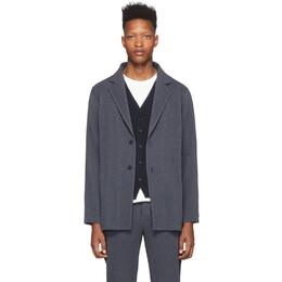 Homme Plisse Issey Miyake Blue Wool-Like Blazer HP06FD003
