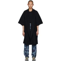 Homme Plisse Issey Miyake Black Kimono Coat HP06JA100