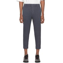 Homme Plisse Issey Miyake Blue Wool-Like Light Trousers HP06FF005