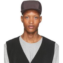 Homme Plisse Issey Miyake Grey Pleats Cap HP06AA530