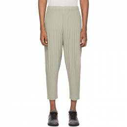 Homme Plisse Issey Miyake Grey Tapered Bottom Trousers HP06JF140
