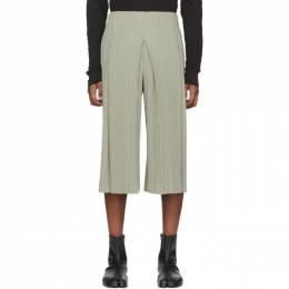 Homme Plisse Issey Miyake Grey Wide Bottom Trousers HP06JF141