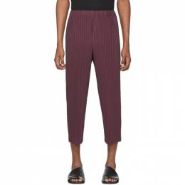 Homme Plisse Issey Miyake Purple MC December Cropped Trousers HP06JF102