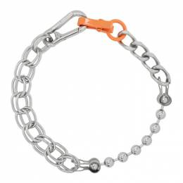 Heron Preston Silver Chain Necklace HWOB007R209210049100