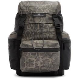 Adidas by Stella McCartney Black and Grey Coated Backpack FJ2494