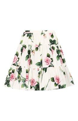 Хлопковая юбка Dolce&Gabbana L53I45/HS5GG/2-6