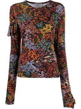 Preen By Thornton Bregazzi топ с цветочным принтом и оборками 188