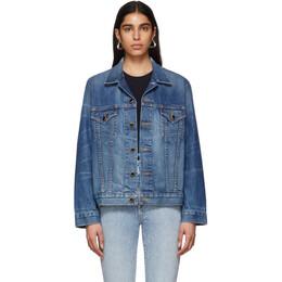 Khaite Blue Denim Oversized Cate Jacket 1005-014