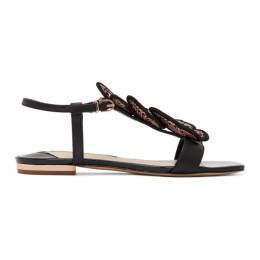 Sophia Webster Black Patent Riva Sandals SPS20101