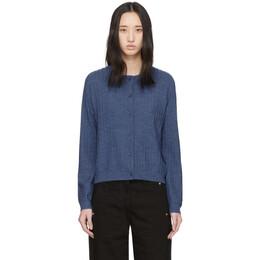 A.P.C. Blue Wool Vicky Cardigan WVAXD-F22179