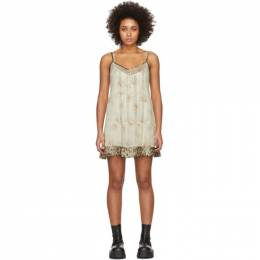R13 Off-White Floral Overlay Dress R13W7587-375