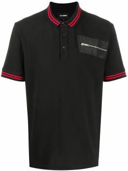 Les Hommes рубашка-поло с карманом на молнии LIT501730N